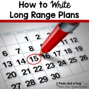 How To Write Long Range Plans