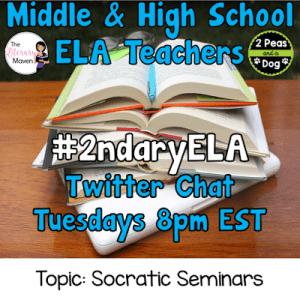 #2ndaryELA Twitter Chat on Tuesday 11/14 Topic: Socratic Seminars