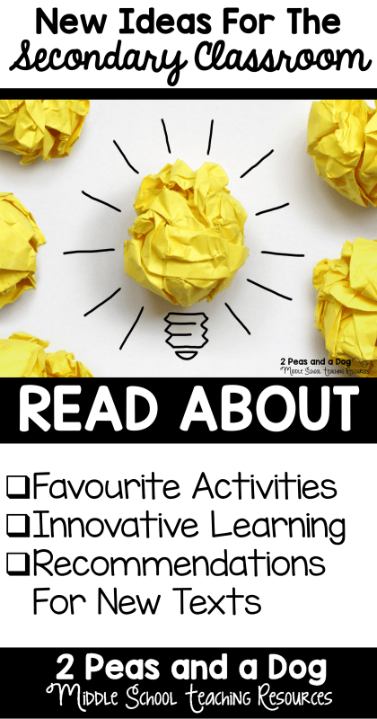 Creative lesson ideas for the middle and high school classrooms.