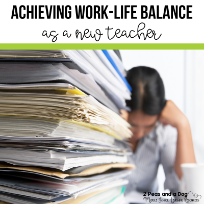New teachers it can be difficult to achieve a work-life balance. Find great practical tips on how to manage school work and your home life as a new teacher from 2 Peas and a Dog.