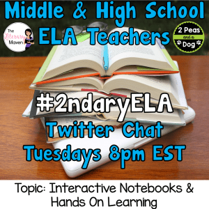 #2ndaryELA Twitter Chat on Tuesday 4/3 Topic: Interactive Notebooks & Hands-on Learning