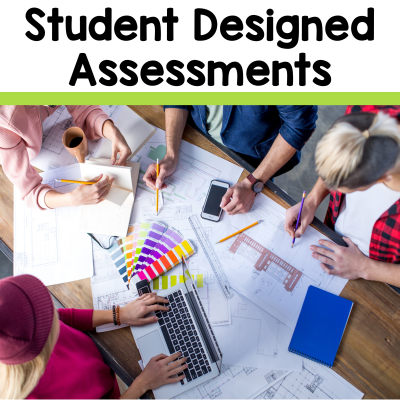 Help students gain authentic learning experiences by designing their own assessments. Learn more about student designed assessments from 2 Peas and a Dog. #studentlearning #classroommanagement #studentlearning #projects #projectbasedlearning