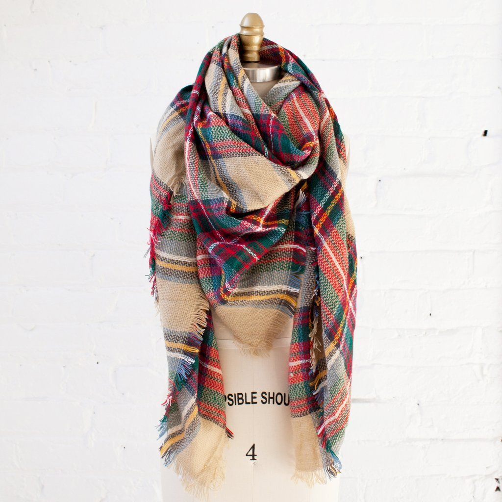 plaid scarf for fall