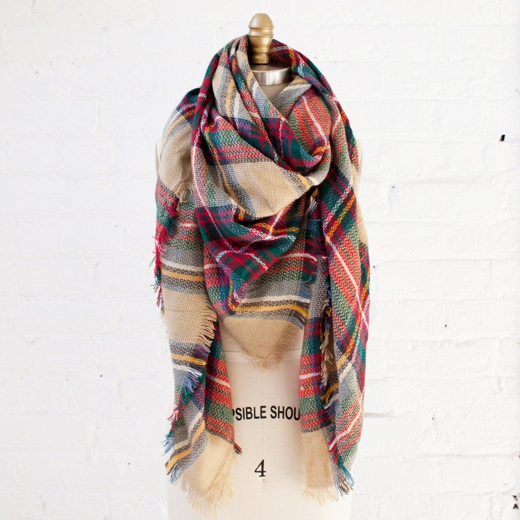 plaid scarf for fall