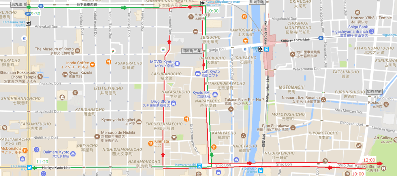 gion festival map