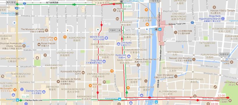 gion festival map