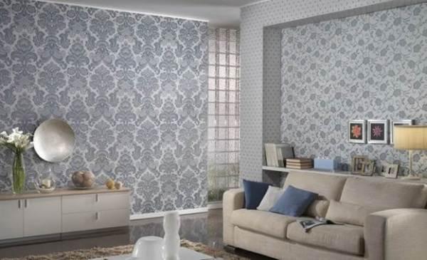 Дизайн обоев в зале в квартире + фото