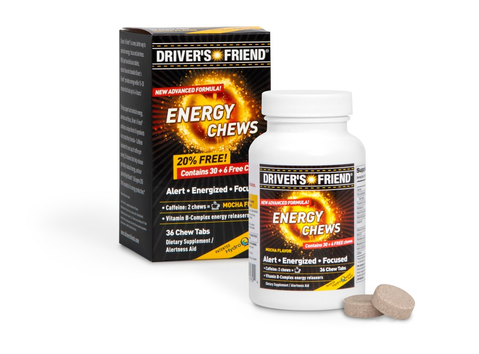 Driver's Friend® energy chew tablets