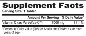 Vitamin C Pureway 1000mg 60ct