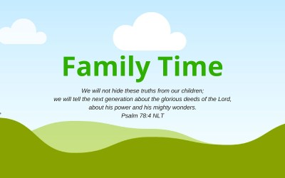 Family Time Activity – Week of July 17