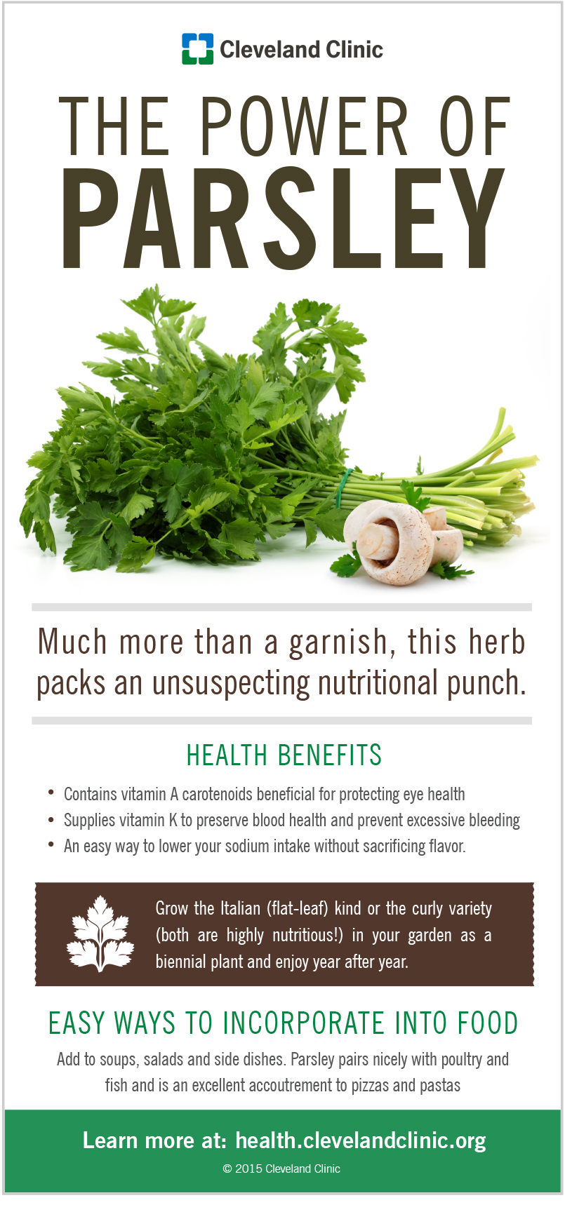 parsley is a brilliant burst of green chock full of health benefits that you