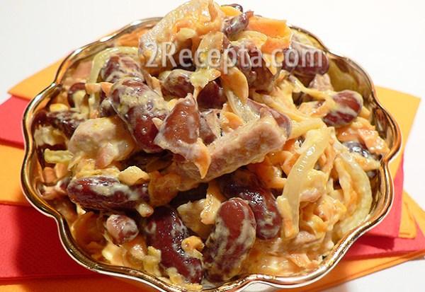 Салат с фасолью - пошаговый рецепт с фото