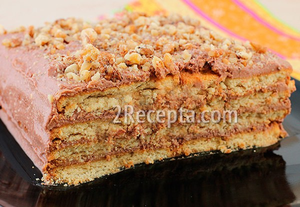 Торт из печенья и творога без выпечки пошаговый рецепт