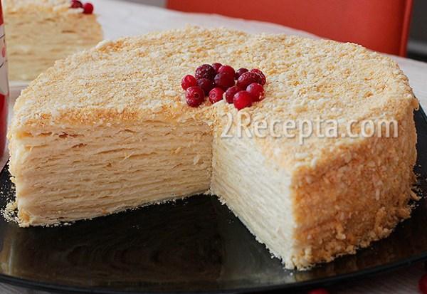 Торт 171Наполеон187 с заварным кремом пошаговый рецепт с фото