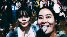 At an EXO concert which we went to because we got free tickets. Thanks Ajeng!