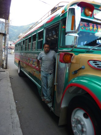 Chicken bus - local transportation to all parts of the country