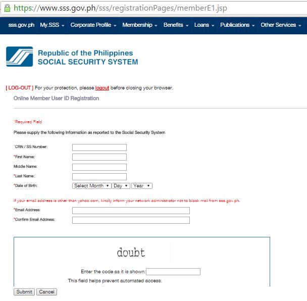 Sss Ph Online Registration Gov