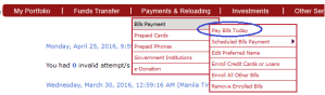 How to Pay Sun Postpaid Plan thru BPI Express Online