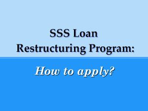 How to Pay your SSS Loan with the help of SSS LRP or Loan Restructuring Program