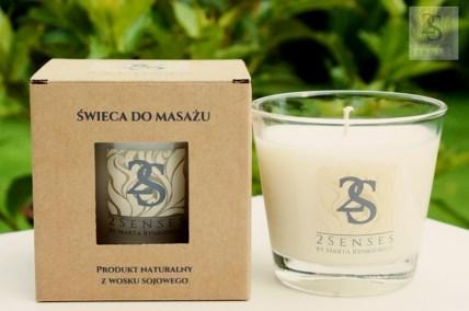 duża świeca do masażu