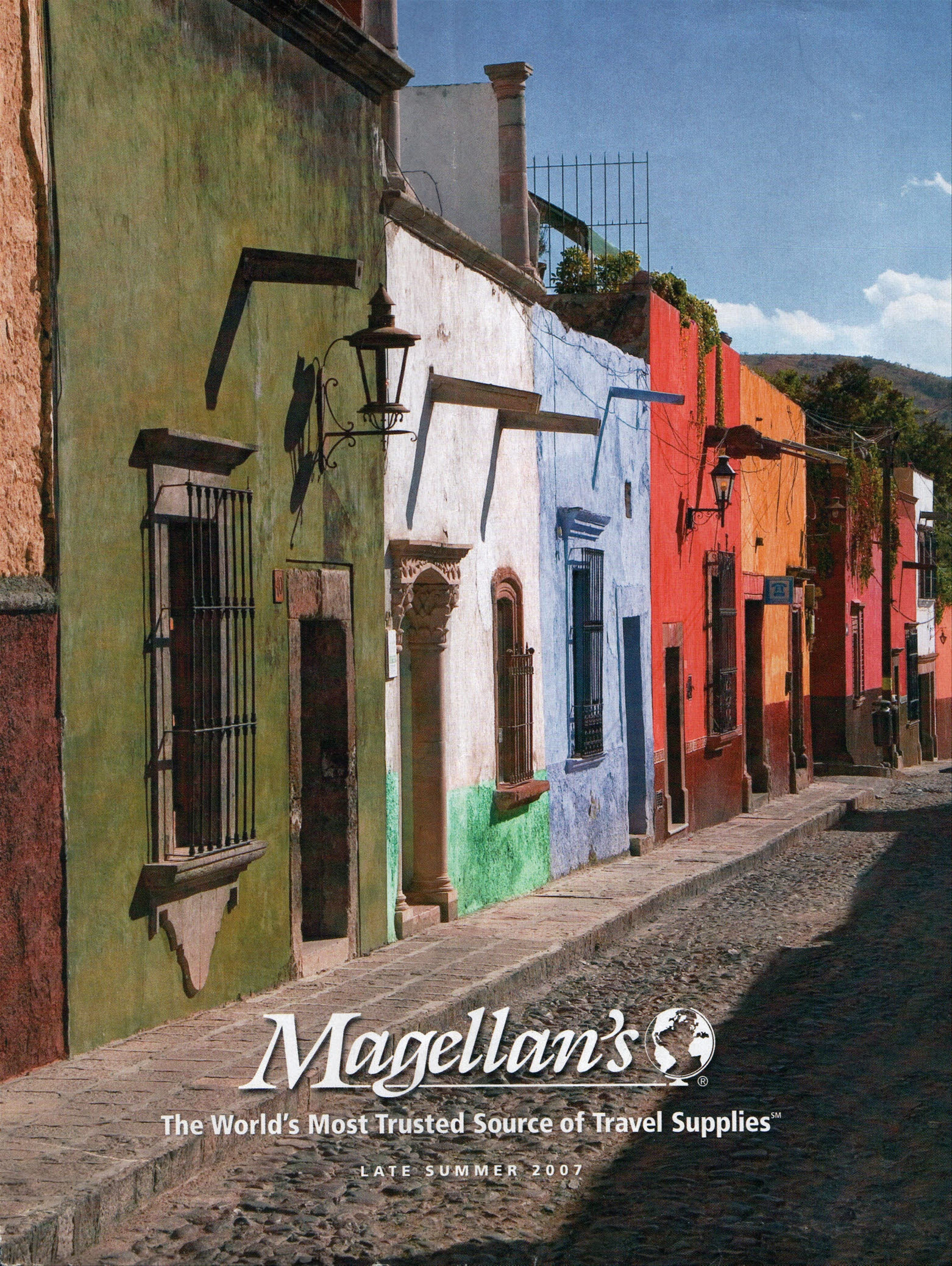 Cover of a Magellan's travel supplies catalog