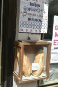 Bread available to purchase outside shop