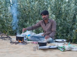 Harish cooking supper