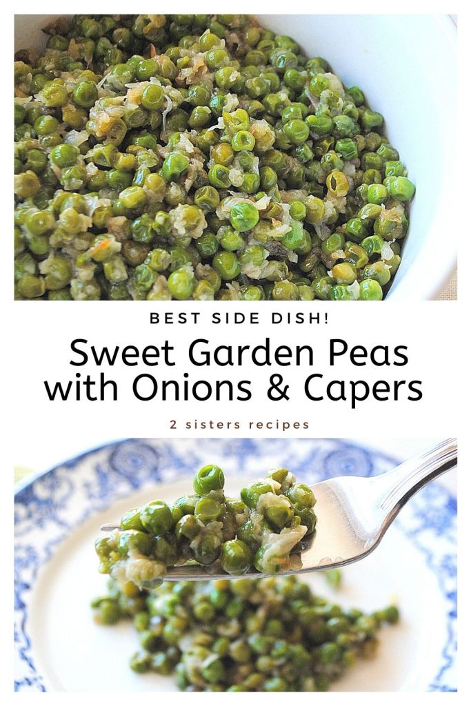 Sweet Garden Peas with Onions and Capers by 2sistersrecipes.com