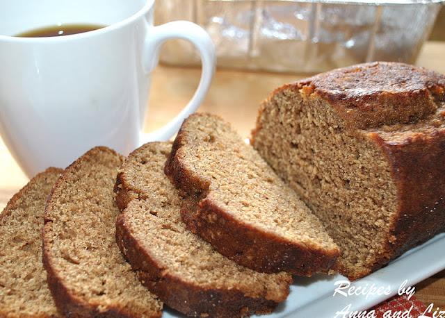 Low Fat Whole Wheat Pumpkin Spice Bread by 2sistersrecipes.com