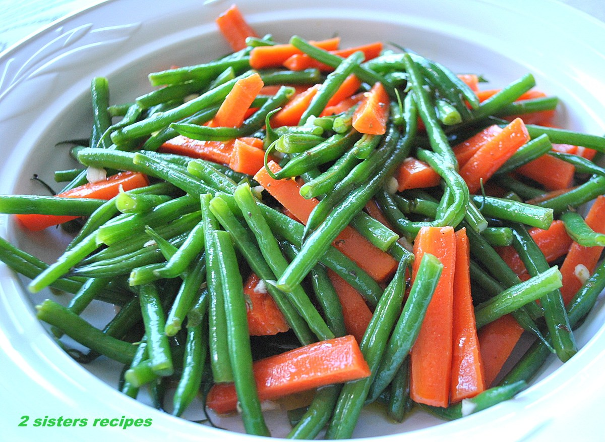 Green Beans and Carrot Salad-Italian Style!