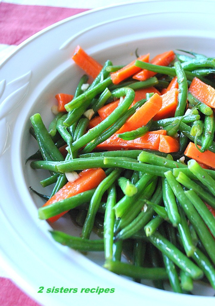 Green Beans and Carrot Salad -Italian Style! by 2sistersrecipes.com
