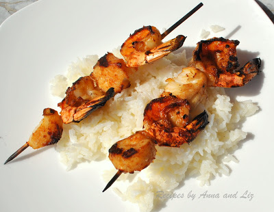 Best Grilled Shrimp and Scallop Kabobs by 2sistersrecipes.com