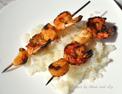 Best Grilled Shrimp and Scallop Kabobs. by 2sistersrecipes.com