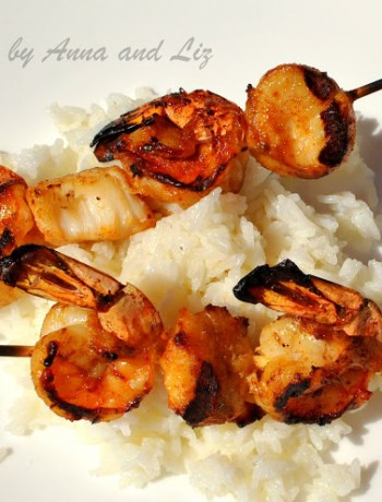 Best Grilled Shrimp and Scallop Kabobs , by 2sistersrecipes.com