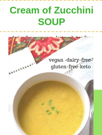 Cream of Zucchini Soup -without Cream! by 2sistersrecipes.com