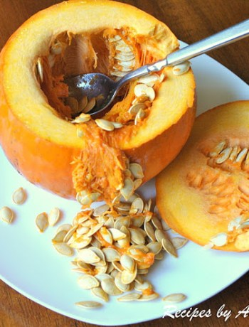 Roasting Pumpkin Seeds by 2sistersrecipes.com