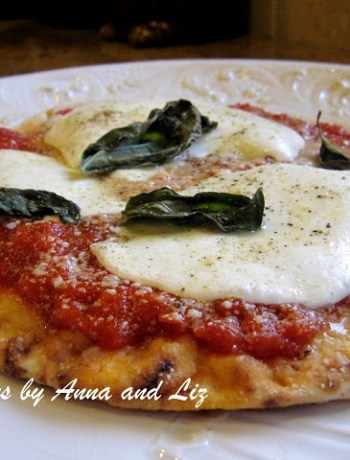 Liz's Pita Pizza by 2sistersrecipes.com