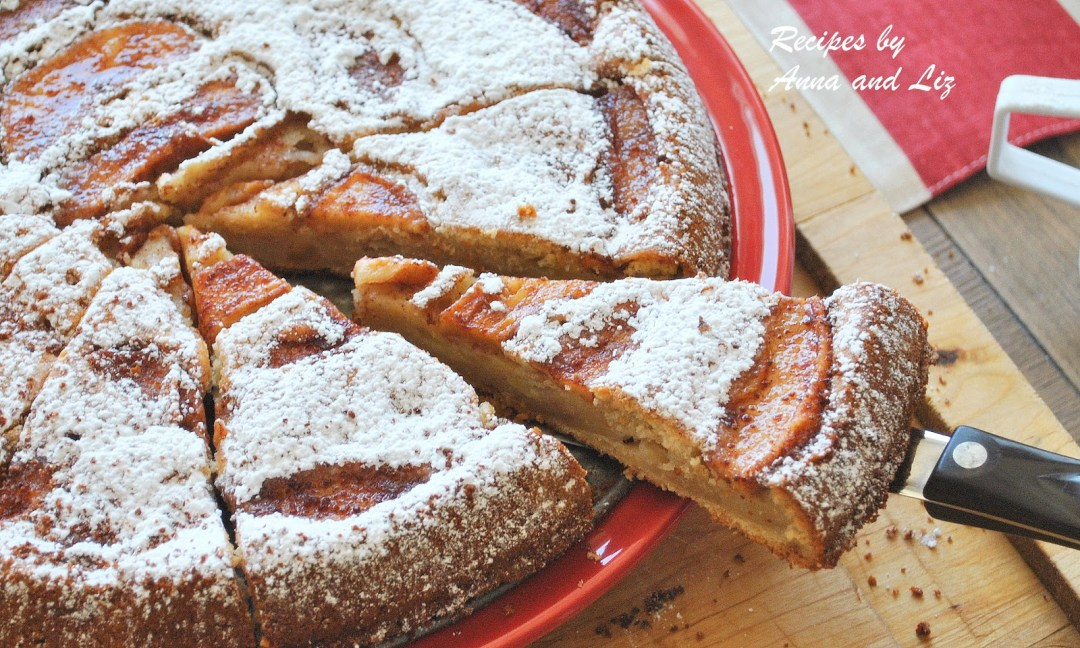 Easy Apple Cake by 2sistersrecipes.com