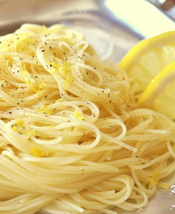 Angle Hair Pasta with Lemon Sauce by 2sistersrecipes.com