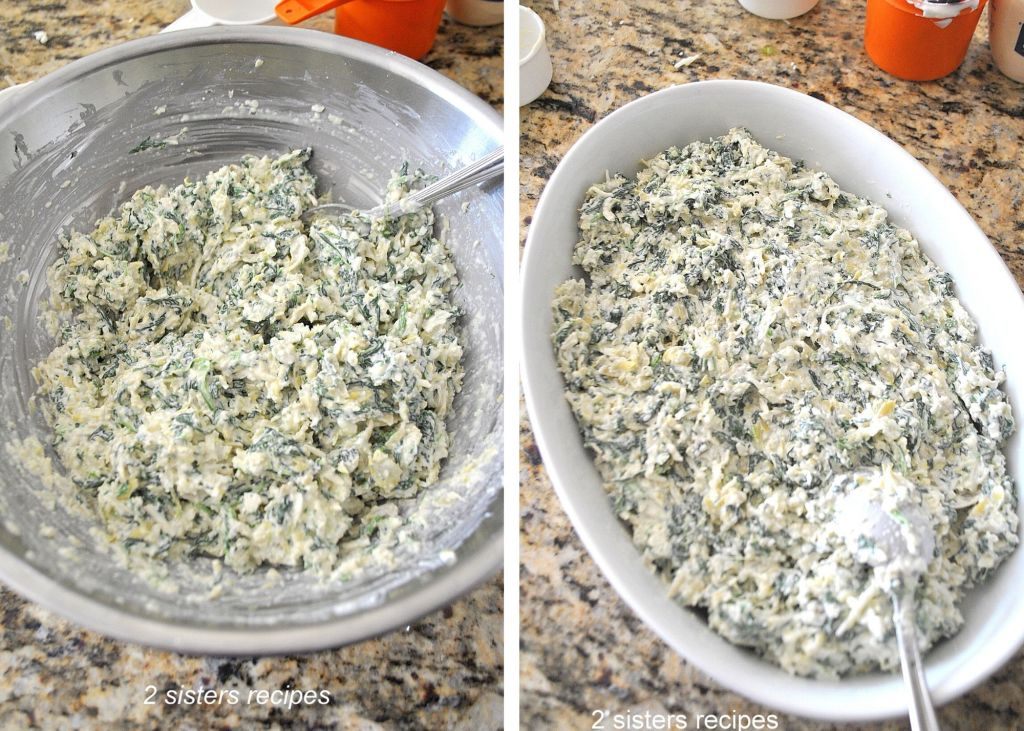 Baked Artichoke and Spinach Dip by 2sistersrecipes.com