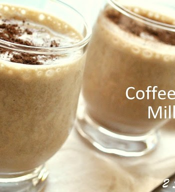 Coffee Banana Milkshake - Tiramisu! by 2sistersrecipes.com