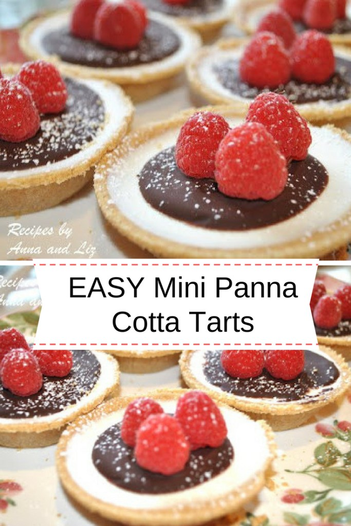 EASY Mini Panna Cotta Tarts with Lingonberries & Chocolate by 2sistersrecipes.com