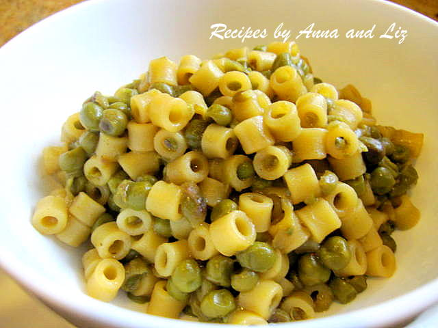 Pasta with Baby Peas by 2sistersrecipes.com