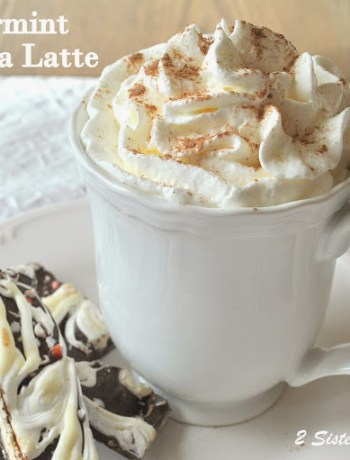 Peppermint Mocha Latte by 2sistersrecipes.com