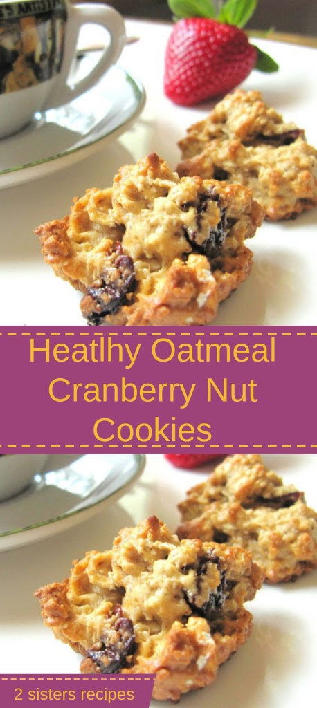 Healthy Cranberry Nut Cookies by 2sistersrecipes.com