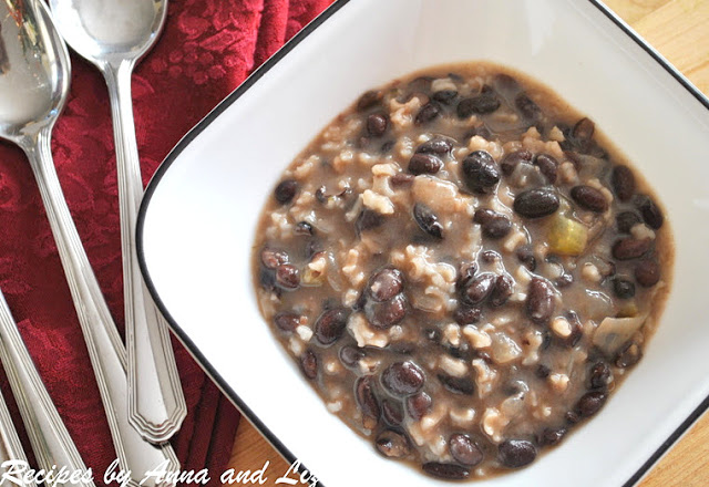 Black Bean and Rice Soup by 2sistersrecipes.com
