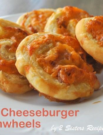 EASY Bacon Cheeseburger Pinwheels by 2sistersrecipes.com