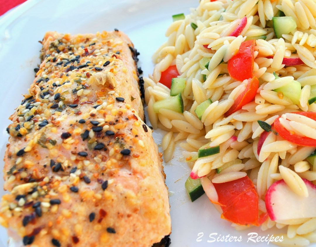 Grilled Sesame Ginger Salmon by 2sistersrecipes.com