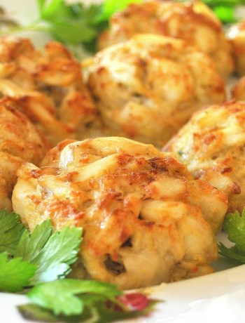 Crab Cakes -Lightened! by 2sistersrecipes.com