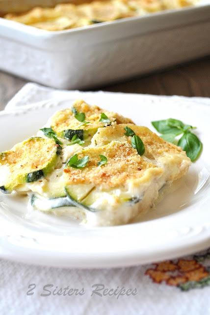 Creamy Potato and Zucchini Au Gratin - Italian Style!